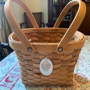 Precious moments vintage basket no flaws